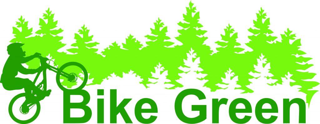 Logo cycling bike green